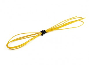 Turnigy High Quality 30AWG Silicone Wire 1m (Yellow)