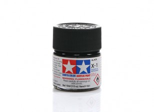 Tamiya X-1 Gloss Black Mini Acrylic Paint (10ml)