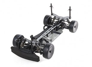Blaze R2 1/10 Scale Carbon Fiber Touring Car with Unpainted Bodyshell ARTR (Silver)
