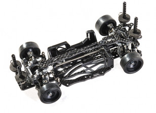 SinoHobby Mini-Q 1/28 RC Race/Drift Car Frame (pre-assembled) - top view