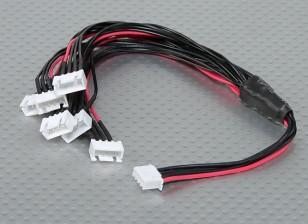 JST-XH Parallel chumbo Balance 3S 250 milímetros (6xJST-XH)