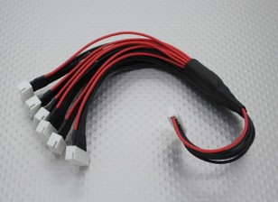 JST-XH Parallel chumbo Balance 6S 250 milímetros (6xJST-XH)