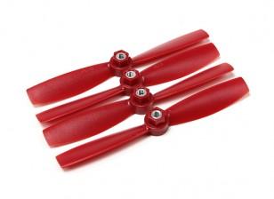 Diatone policarbonato auto Hélices aperto de Bull Nose 5045 (CW / CCW) (vermelho) (2 pares)