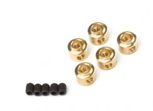 3,5 milímetros de rodas Coleiras (latão) 5pcs / bag
