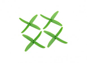 "Dalprops ""Indestructible"" PC 5040 4-Blade Props Green (CW / CCW) (2 pares)"