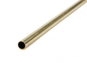K&S Precision Metals Brass Round Tube 7mm OD x  0.45mm x 1000mm (Qty 1)