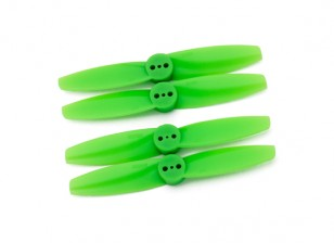 Gemfan T Estilo de policarbonato 3025 2 Bladed Green (CW / CCW) (2 Par)