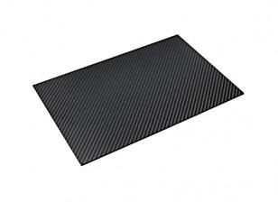 Folha de fibra de carbono de 300 x 200 x 3 mm