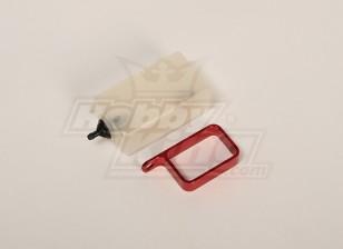 Header Tanque w / suporte de metal (vermelho)