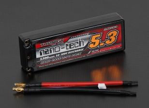 Turnigy nano-tecnologia 5300mAh 2S2P 50 ~ 100C Hardcase Lipo pacote