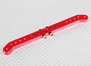 Pesado 4.6in Dever Alloy Pull-Pull Servo Arm - Hitec (vermelho)