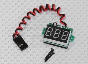 Indicador de tensão LED RX para Lipoly e vida útil da bateria