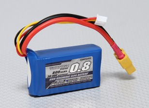 Turnigy 800mAh 2S 30C Lipo pacote