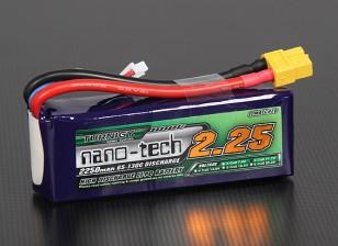 Turnigy nano-tecnologia 2250mah 3S 65 ~ 130C Lipo pacote