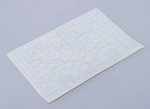 Letras / números / símbolos 26mm branco
