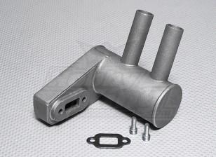 Pitts silencioso para motor a gasolina 26cc