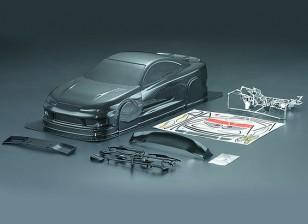 1/10 fibra de carbono S15 Estilo Car Shell Corporal (190 milímetros)