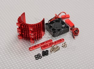Motor dissipador de calor w / Fan Red alumínio (36 milímetros)