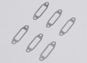 Alumínio Silenciador Junta 1 milímetro para OS 0,61 ~ 0,91 Brilho Engine (6pcs / bag)