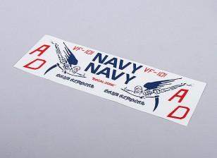 Reapers da Marinha dos EUA sombrio para EDF Jet (azul) - 105mmx70mm principal insígnias