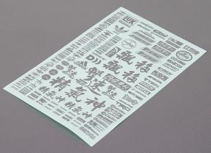 Folha de Auto-adesivo Decal - Character 1/10 Scale (Silver)