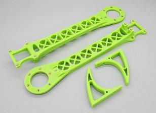 Hobbyking SK450 substituição Arm Set - Verde Brilhante (2pcs / bag)