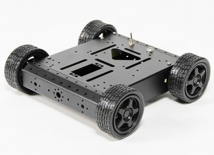 Alumínio 4WD Robot Chassis - Black (KIT)