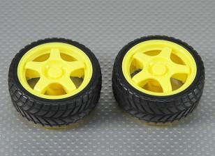 28 milímetros roda / pneu Set (2Pcs / Bag)
