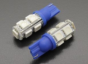 LED milho luz 12V 1.8W (9 LED) - Blue (2pcs)