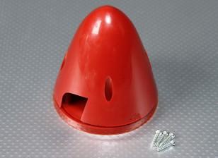 Nylon 83 milímetros Spinner (vermelho)
