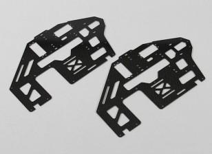 Trex / HK500 1,6 milímetros de fibra de carbono principal Set estrutura lateral (2pcs / bag)