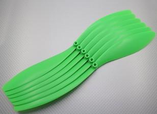 GWS Estilo hélice 14x10 Green (CCW) (6pcs)