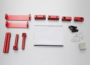 1/8 Car Set montagem corpo magnético (vermelho)