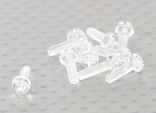 Parafusos policarbonato transparente M3x10mm - 10pcs / bag