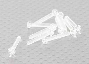 Parafusos policarbonato transparente M3x20mm - 10pcs / bag