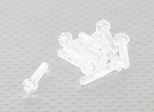 Parafusos policarbonato transparente M4x20mm - 10pcs / bag
