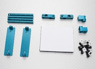 1/10 Car Aluminum CNC Shell Corpo Montagem Set (azul)