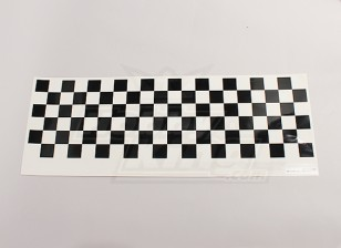 Decalque Pattern Folha Chequer Preto / Clear 590mmx180mm