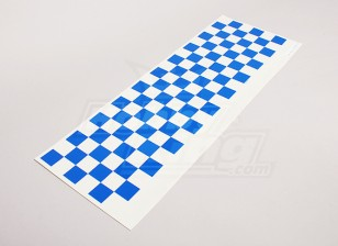 Decalque Pattern Folha Chequer Azul / Clear 590mmx180mm