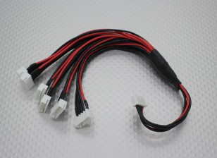 JST-XH Parallel chumbo Balance 4S 250 milímetros (6xJST-XH)