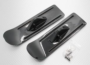 Material rodante da neve do esquiador para o avião modelo