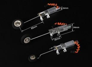 Turnigy 90 graus Todos Metal Triciclo Sistema de retracção w / Pernas de arame de 3mm (2 kg AUW Max)