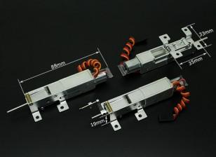 Turnigy 90 graus Todos Metal Triciclo Sistema de retracção com nosewheel direção (Modelos 2kg AUW Max)
