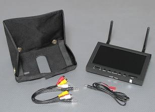 7 polegadas 800 x 480 5.8GHz Diversidade Receiver & TFT LCD Monitor com FPV LED Backlight SkyZone
