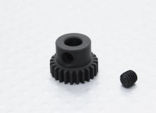 24T / 5 mm 48 Passo Hardened pinhão Aço
