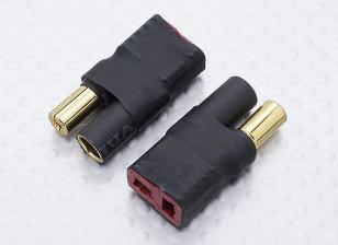 5,5 milímetros de bala Connector para liderar T-Connector Adapter Bateria (2pc)