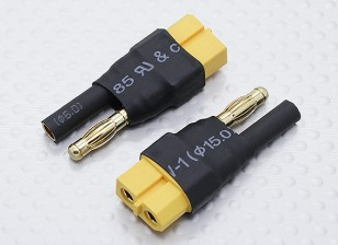 HXT 4mm a ligação XT60 adaptador de bateria (2pc)
