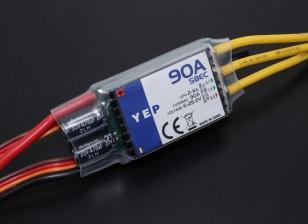 HobbyKing YEP 90A (2-6S) Controlador de velocidade Brushless com selecionável SBEC
