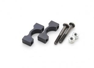 Preto anodizado CNC alumínio Tubo braçadeira 10mm de diâmetro