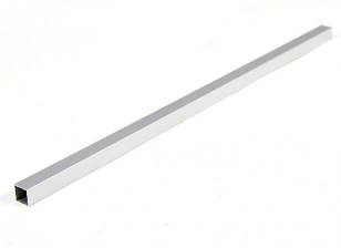 Alumínio tubo quadrado DIY Multi-Rotor 12.8x12.8x400mm (.5Inch) (Silver)